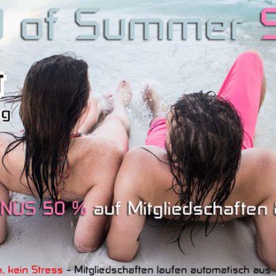 End of Summer Sale! MINUS 50 % Rabatt!